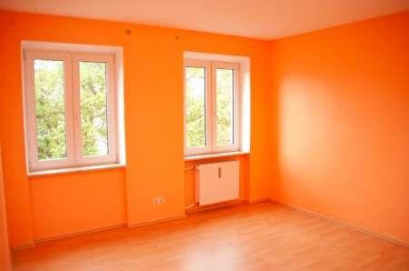 Holy Orange! Orange painted room.