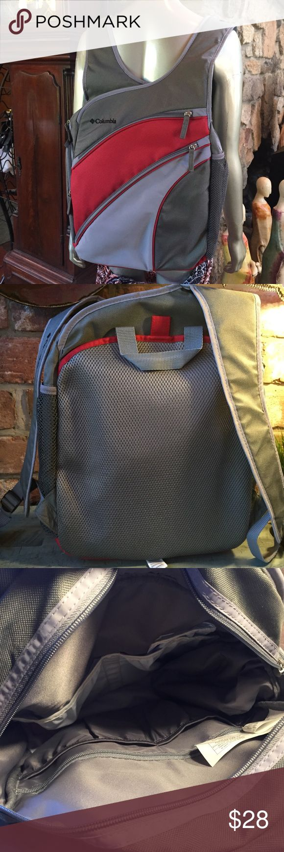 Columbia backpack. New w/o tags Versatile use, can be a diaper bag, or not! It comes with many pockets inside, a insulated pocket on outside, 2 zippered sleeves  on the outside. Very well padded. Never used, was a gift. Columbia Bags Backpacks
