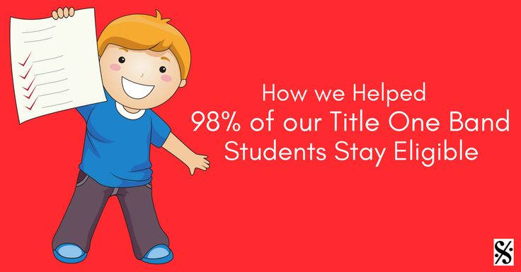 Practical steps to help your title one students stay eligible in order to have academic success and participate in your band program!