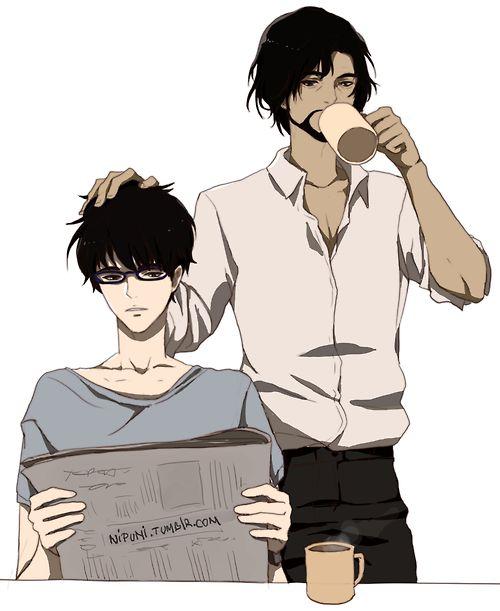 Zankyou no Terror, fan art: Nine and Detective Dude (Shibazaki san) by Nipuni