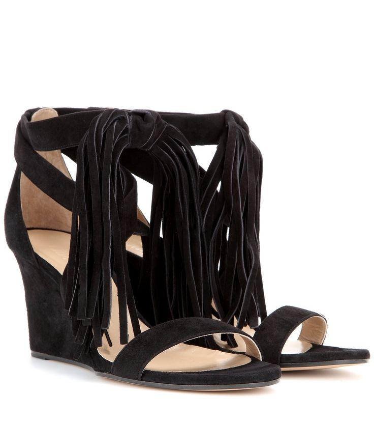 nice Wedge-sandalen Aus Veloursleder http://portal-deluxe.com/produkt/wedge-sandalen-aus-veloursleder-4/  375.00