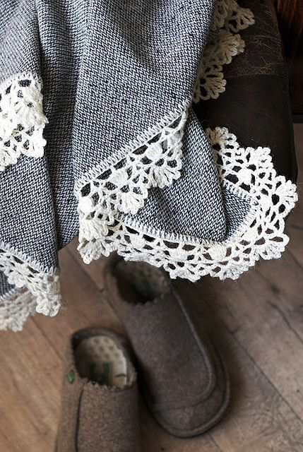 crocheted edged