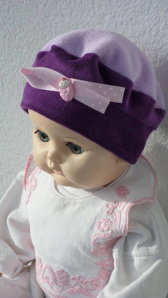 bonnet béret chapeau bébé fille cadeau naissance lin eva   BONNETS ... a36ada4fb5c