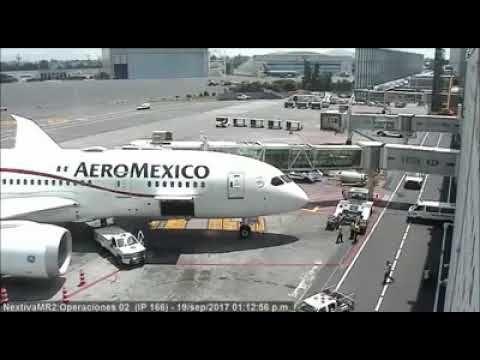 Así se sacudió un Boeing 787 de Aeroméxico durante el sismo - YouTube