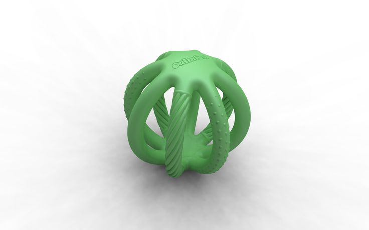 3D Rendering of the Solid model for Calmies: a baby teething toy