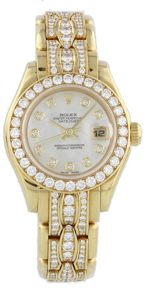 Ladies Rolex Oyster Perpetual Datejust Pearlmaster 69298 #Rolex #Dress
