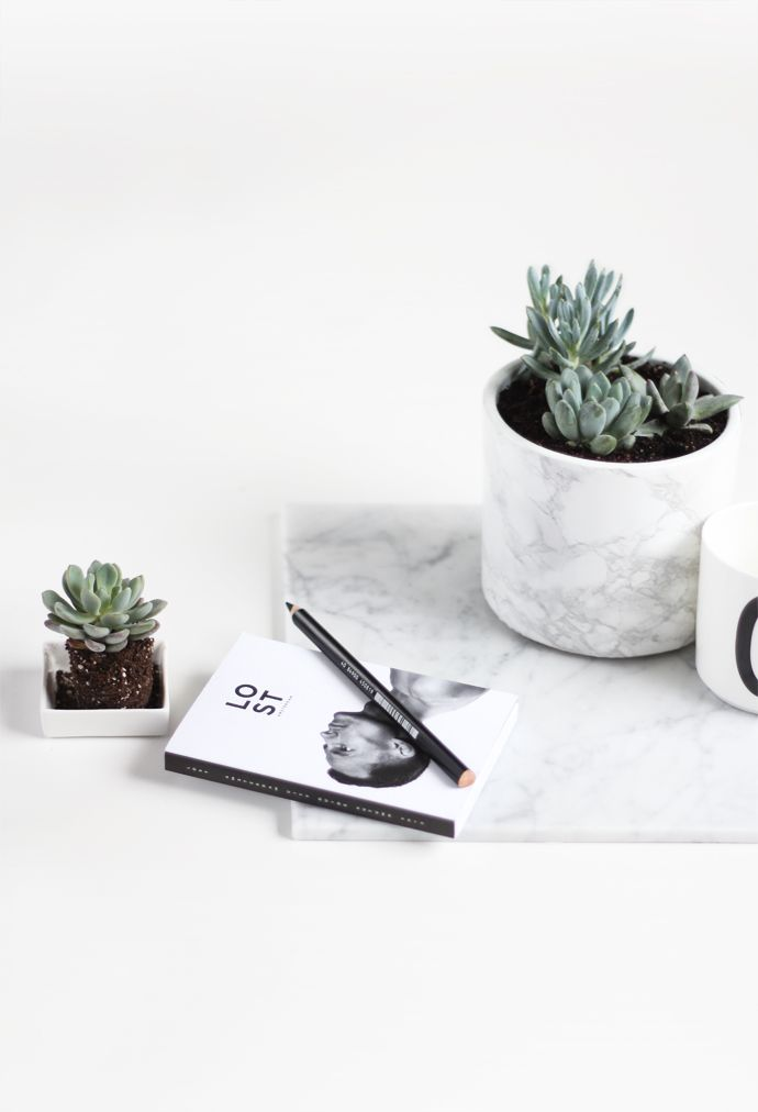 Marble Plant Pot // In need of a detox? 10% off using our discount code 'Pin10' at www.ThinTea.com.au