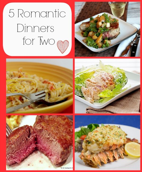 5 Romantic Dinners for Two #ValentinesDay #Recipes