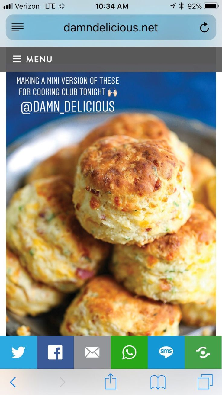 """There are just some recipes that stop me in my tracks and I tell myself """"I need to make these stat!"""" That's what I thought when I saw Chungah's recipe for these cheddar chive bacon biscuits. I know biscuits are a love/hate – much like cilantro. Tony only liked them if they were smothered in sausage gravy, but I love them drizzled with a little honey or with butter and jelly. So good! My brother was my food stylist model – thanks Charlie! I adapted her recipe just a few ways – I made ..."""