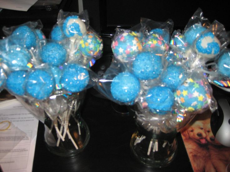 Cake Pops: For a boy baby shower