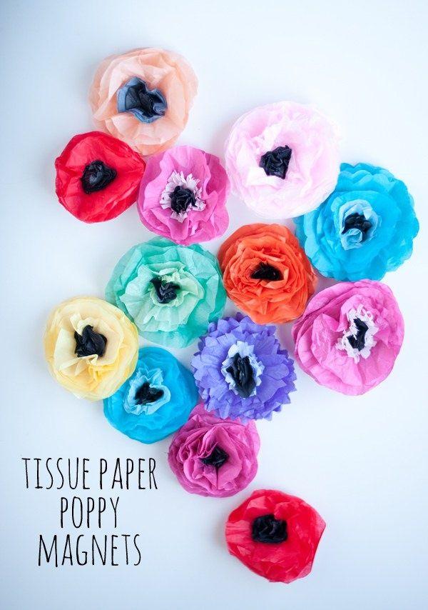 40 diy paper flower tutorials you must see diy paper flowers diy tissue paper poppy magnets diy paper flower tutorials you must see papercrafts mightylinksfo