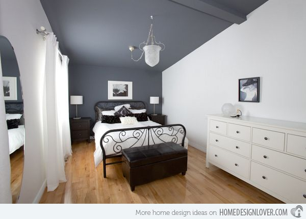 15 charismatic sloped ceiling bedrooms - Bedroom Ceiling Color Ideas