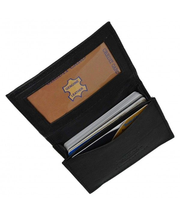 Genuine Leather Expandable Credit Card Outside Id Business Card Holder Wallet 070bk C112f6whj6b Business Card Holder Wallet Card Holder Wallet Leather Business Card Holder