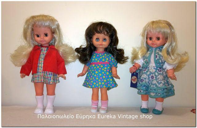 3 κούκλες της ελληνικής εταιρίας el greco από την δεκαετία 1970's.  Και οι 3 είναι σε πολύ καλή κατάσταση, με ωραία ρούχα, εσώρουχα, κάλτσες, παπούτσια.