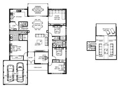 Floorplans: Convert rooms 2 and 3 into self contained unit with own entry. Not a big fan if the kitchen, although I do like the kitchen and laundry on the west side of the house. Laundry is a little sad though.