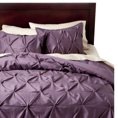 Threshold™ Pinched Pleat Comforter Set/ only $83 at target :) love the gray and white colors.