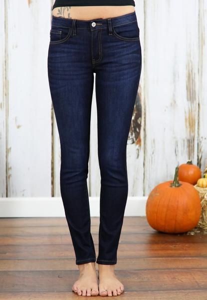 We love KanCan jeans! The premium denim has the perfect amount of stretch making it comfortable enough to wear all day! The dark wash is a wardrobe must for the Winter season.