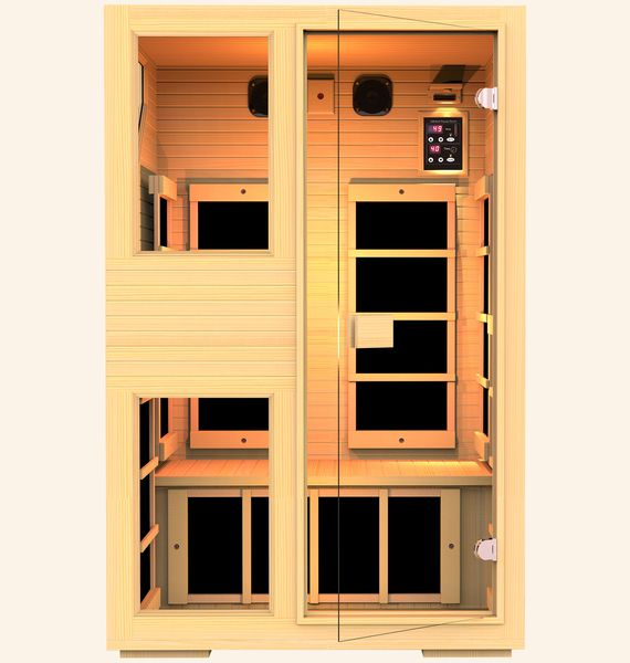 Ensi™ 2 Person Zero-EMF Far Infrared Sauna, Black Friday Deals is ON! $1000 OFF, Lowest Price Guaranteed!