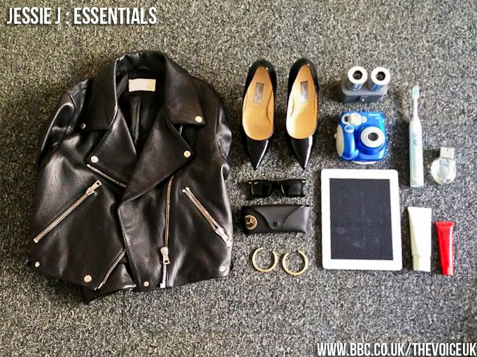 "We asked Jessie J - ""What could you not live without?"" This photo reveals her answer... #thevoiceuk #jessiej #essentials"