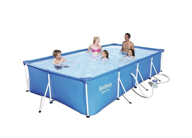 Bestway Steel Pro Frame Pool Set Mit Filterpumpe, 400 X 211 X 81cm: Amazon