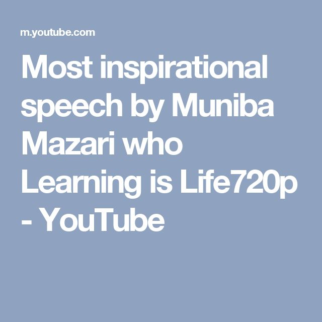 Most inspirational speech by Muniba Mazari who Learning is Life720p - YouTube