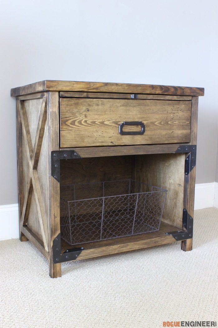 best 10 rustic nightstand ideas on pinterest diy. Black Bedroom Furniture Sets. Home Design Ideas
