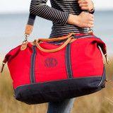 Monogram Weekender Tote Bag - Choose Color   Three Hip Chicks