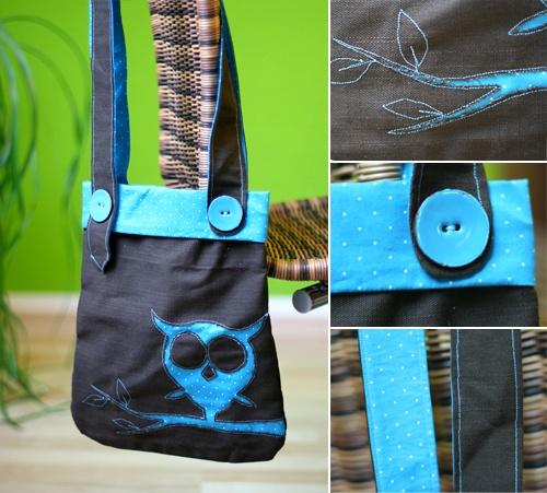 bag, DIY, sewing, owl