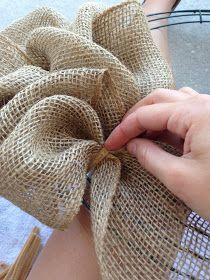 Another Wreath tutorial....   :)    Little Lovely Leaders: Burlap Wreath!!