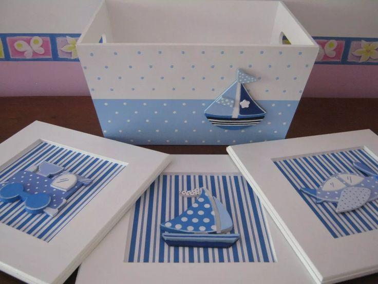 caja-cajas-portaajuar mas cuadros en fibrofacil pintado a ma