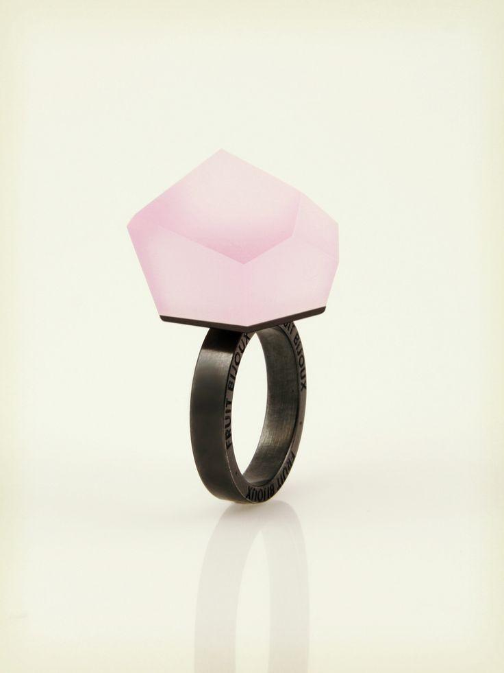 Vu - carnation pink, ruthenium ring - =PYO=