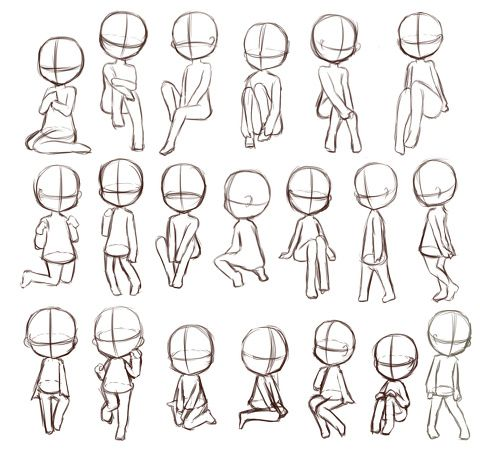 Chibi on gesture drawings for kids