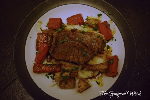 The Gingered Whisk: Red Wine Brasato with Glazed Root Vegetables (Two ...