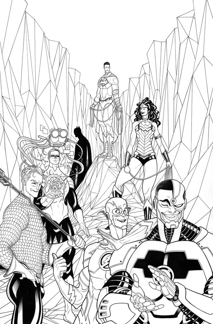 JLA Issue 3 variant by Tradd Moore (lines) and Rico Renzi (colors)