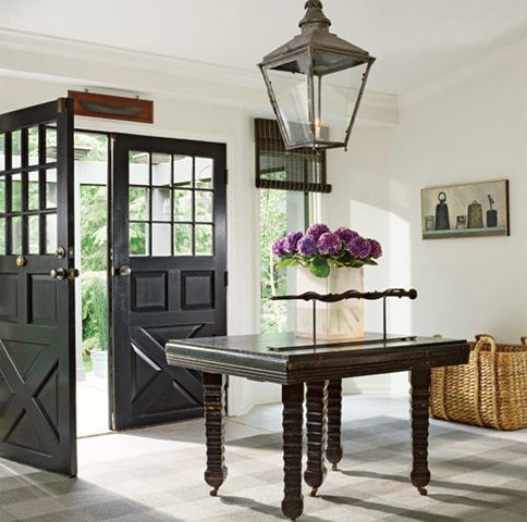 How Phoebe Howard Designed The Nashville Southern Living Idea House. Black  DoorsBlack Interior ...