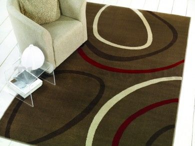 Sincerity Modern Spiro Taupe Designer Rug By Flair Rugs 1