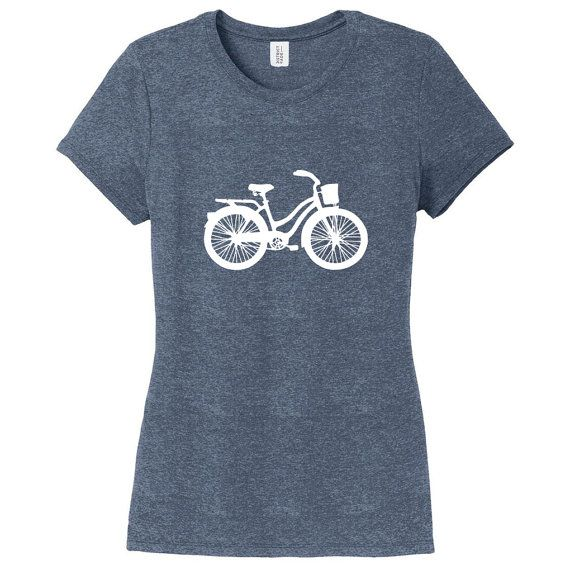 Vintage Cruiser Bike Women's Fitted T-Shirt