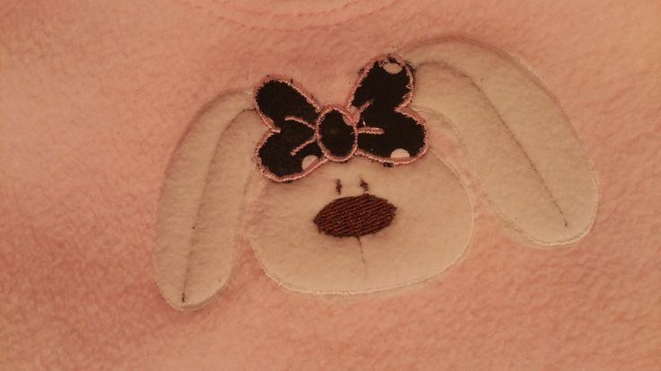 Applique - embroidery - Janome MC 350 E - rabbit