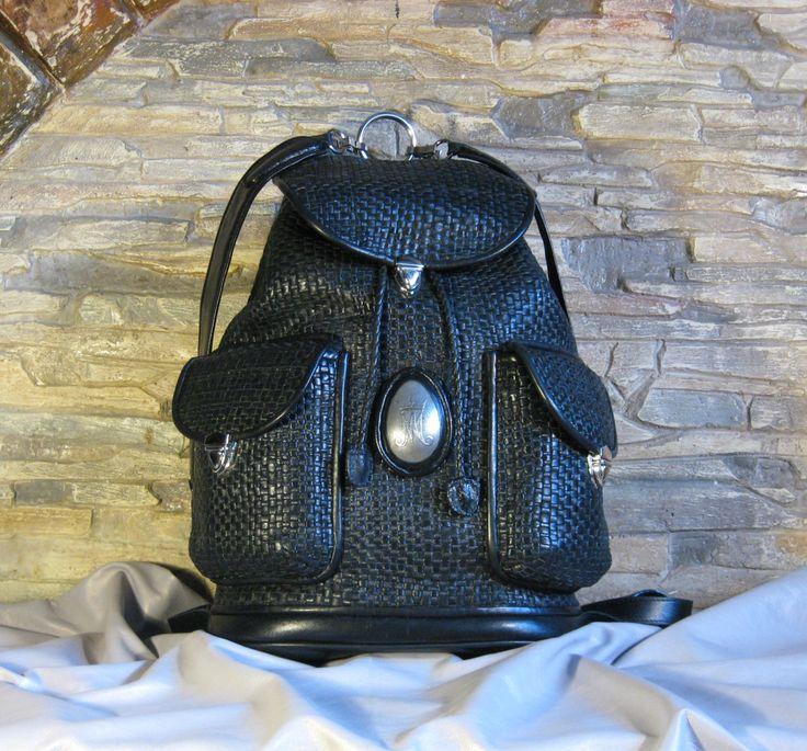 braided leather backpack, плетеный кожаный рюкзак by MABTESS on Etsy