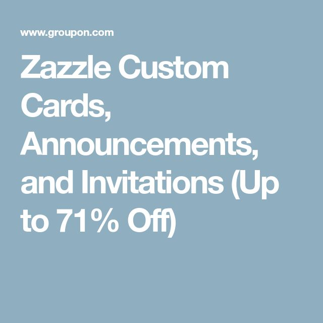 Zazzle Custom Cards, Announcements, and Invitations (Up to 71% Off)