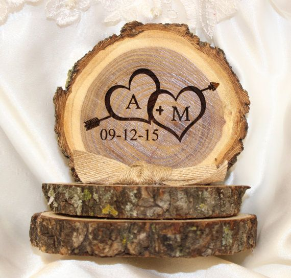 Wedding cake topper  rustic wedding cake by HangingMemories4ever