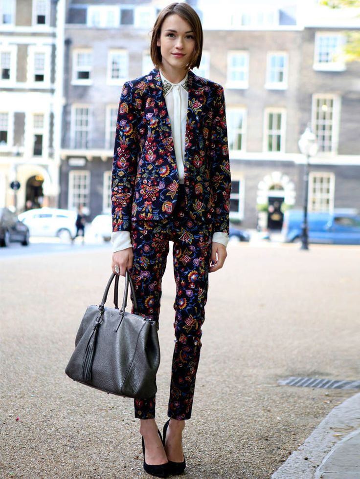 .love this floral suit! #fashion #women