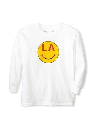 64% OFF Little Dilascia Kid's LA Smile Long Sleeve Tee (White)
