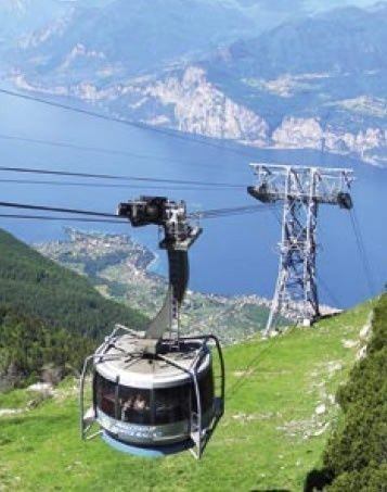 Funivia Malcesine Monte Baldo, Lake Garda, Italy - never been so terrified in my life but it was worth it for the view!