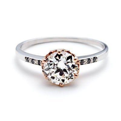 love the gold detail Www.happilywedding.comSheffield Hazeline, Gold Rings, Anna Sheffield, Jewelry, Black Diamonds, Diamonds Accent, White Gold, Rose Gold, Engagement Rings
