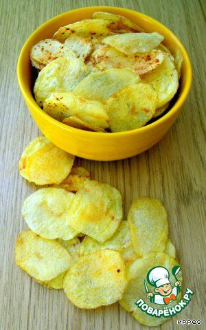 potato chips in the microwave (in Russian)