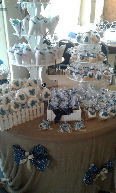 Baptism cookies and cupcakes