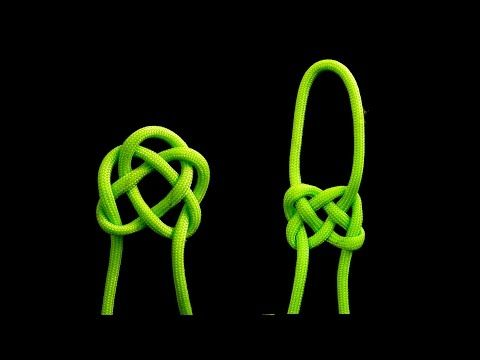 How to tie Celtic Square knot - YouTube