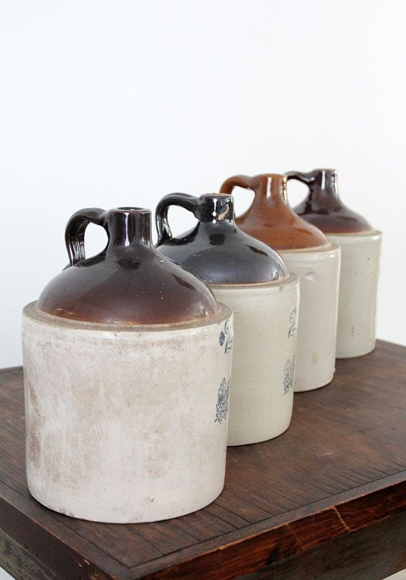 Antique Stoneware Jug / Western Stoneware 2 Gallon Jug by 86home, $168.00