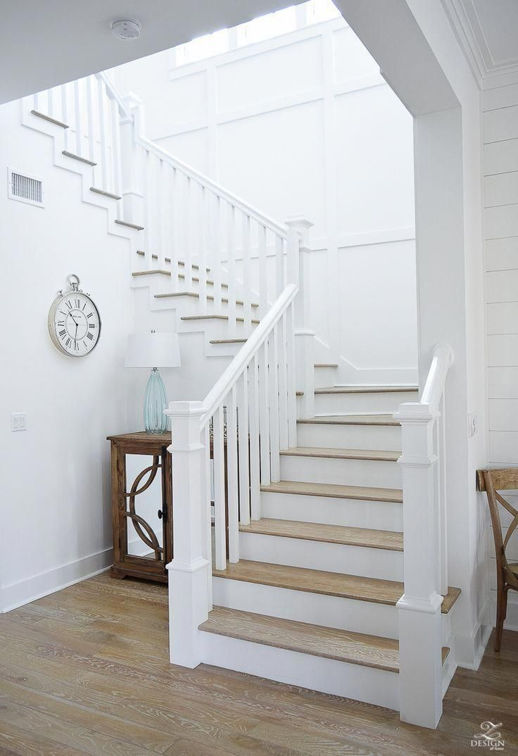 Staircase New England Limed Oak Floorboards Beach House Design Beach House Interior Beach House Decor